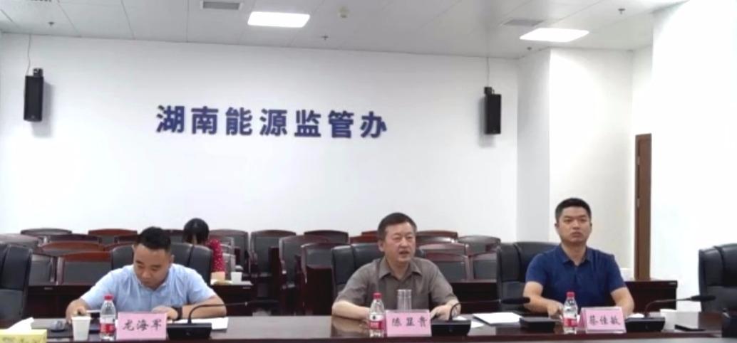 湖南能源监管办组织召开电力建设工程施工安全线上督查会议